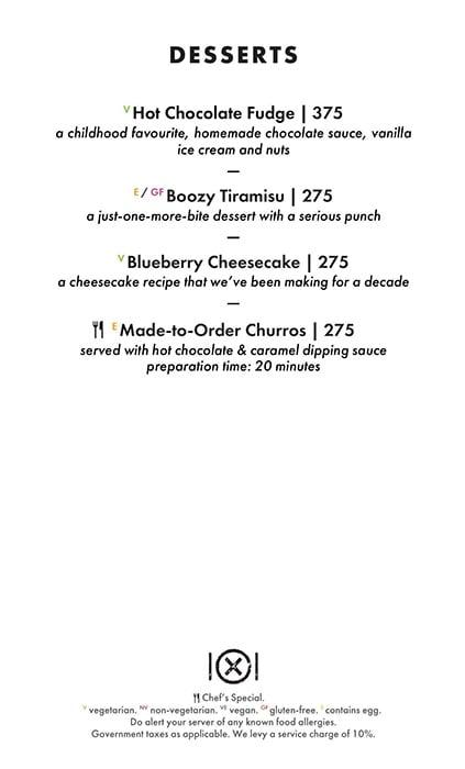 Dirty Apron menu 6