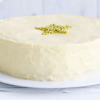 White Chocolate Cake With Buttercream Icing.