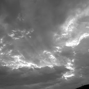 Texas clouds by Stacy Dunn - Black & White Landscapes