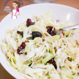 Cabbage Salad with Toasted Sunflower Seeds and Cranberries Recipe