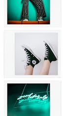 Neon Sneaker Frame - Photo Collage item