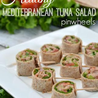 Healthy Mediterranean Tuna Salad Pinwheels