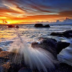 Melasti Rocks by Hendri Suhandi - Landscapes Beaches ( bali, edge, sunset, cliff, beach, rocks )