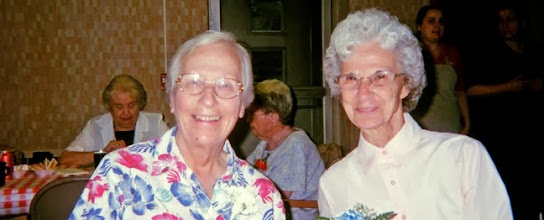 Photo: Coming together for a meeting gives Sr. Dorothy and Sr. Jean Marie a chance to enjoy each other's company.
