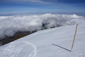 Photo: Climbing to the top of the Northern Ice Field