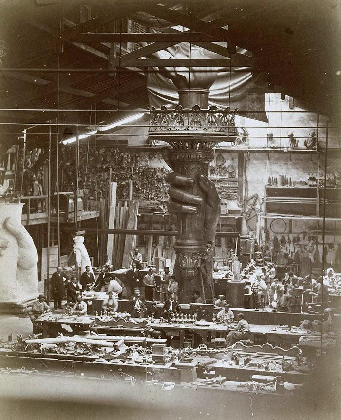 E. Flamant, La main et le flambeau de la Statue de la Liberté, 1876