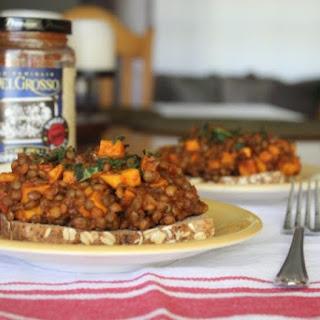 Vegetarian Lentil and Sweet Potato Sloppy Joes.