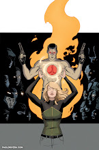 Photo: THE VALIANT #4 COVER. 2014. Ink(ed by Joe Rivera) on bristol board with digital color, 11 × 17″.