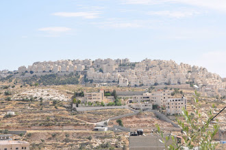 Photo: Har Homa, a huge Jewish and illegal settlement near Bethlehem. Before the settlement was built the hill was covered by wood.