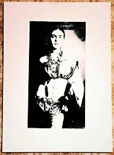 Foto: Frida Black&White  50x70cm  Serigrafia su tela  NON DISPONIBILE
