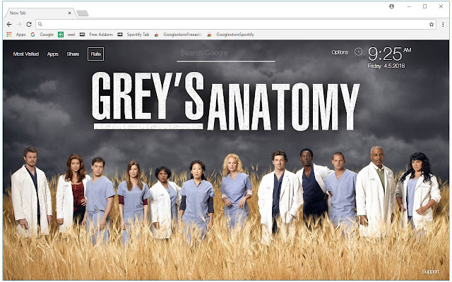 Grey's Anatomy HD Wallpapers TV Shows New Tab