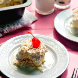 Piña Colada Tres Leches Cake.