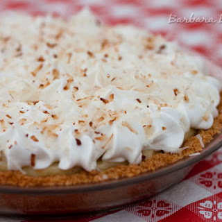 Coconut Cream Pie with a Coconut Cookie Crust