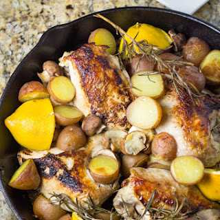 Skillet Chicken Breast with Lemon and Rosemary.