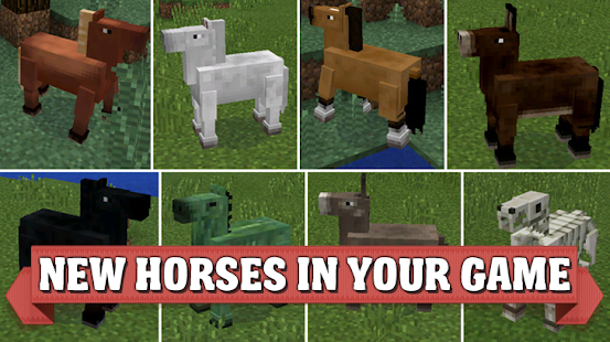 Horses mod for Minecraft PE - náhled