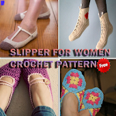 Women Slippers Crochet Pattern