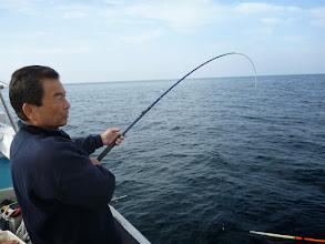"Photo: 初乗船の""ムライさん""ヒーット!"