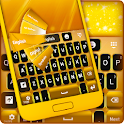 Neon Gold GO Keyboard