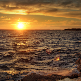 Adriatic Sea sunset by Dunja Milosic Odobasic - Landscapes Waterscapes