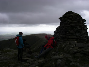 Photo: The cairn and a half on top of Ill Bell.
