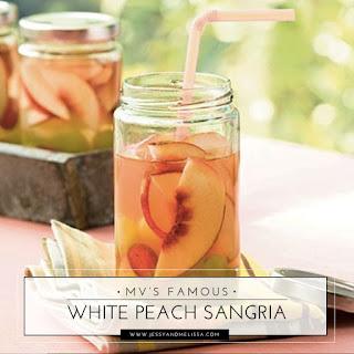 Mv's Famous White Peach Sangria.