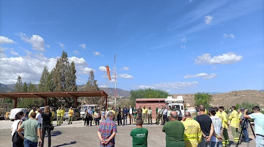 La provincia guarda silencio en memoria del bombero fallecido