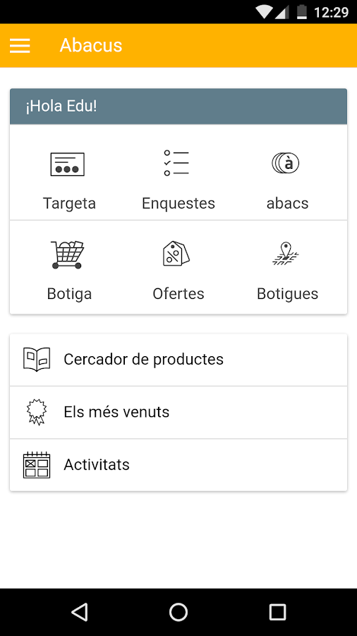 Abacus cooperativa- screenshot
