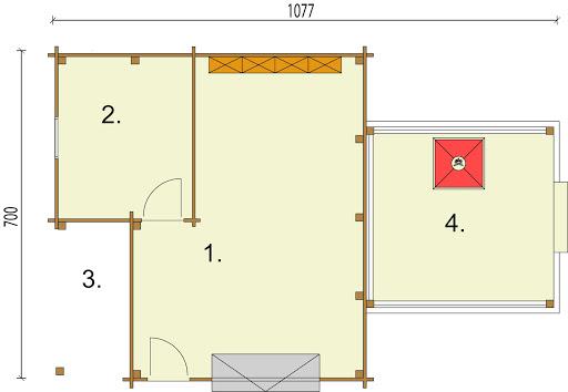 G53 (z bali) - Rzut garażu