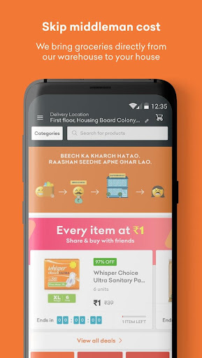 Grofers-grocery delivered safely with SuperSavings 5.5.54 screenshots 5
