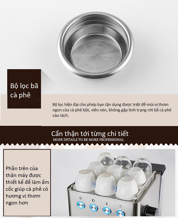 Máy pha cà phê Espresso, latte Gemilai CRM3005 - ảnh 4