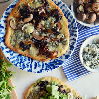 Mushroom, Caramelized Onion & Blue Cheese Flatbreads