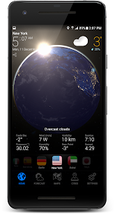 3D EARTH PRO – local weather forecast & rain radar 2