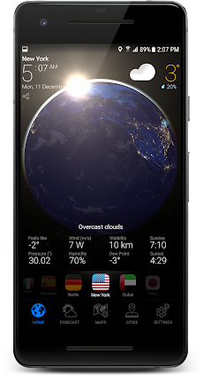 3D EARTH PRO - local weather forecast & rain radarのおすすめ画像2