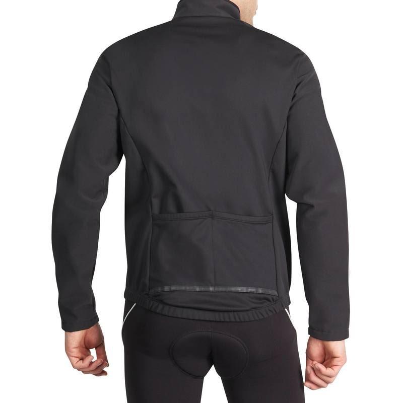 Dos veste B'Twin conçue pour une pratique occasionnelle du vélo par temps froid (1 heure par sortie).