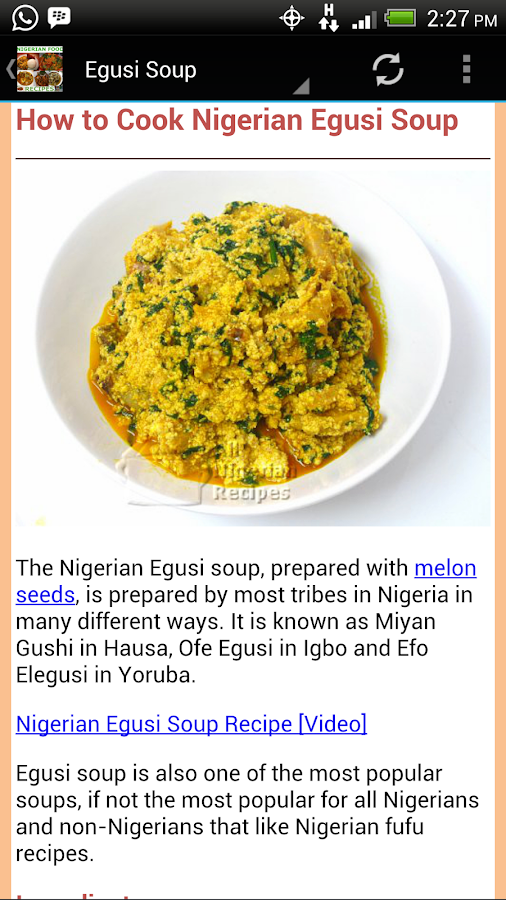 Nigerian food recipes android apps on google play nigerian food recipes screenshot forumfinder Images