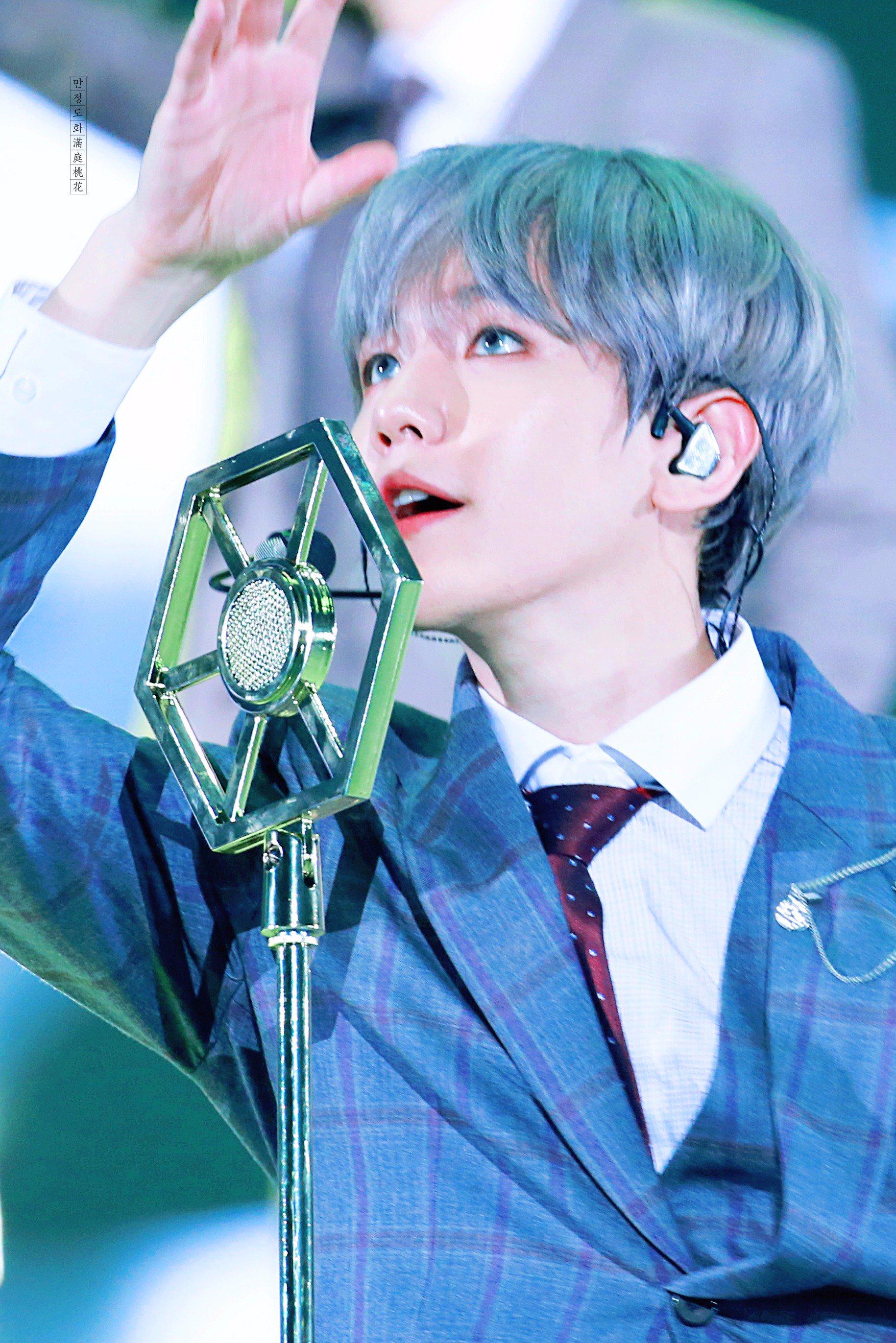 baekhyun gray hair