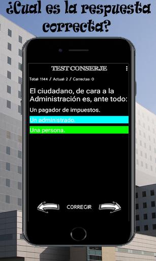 Test para la oposición de conserje u ordenanza screenshots 2