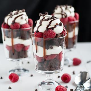 Raspberry Brownie Cheesecake Trifles Recipe