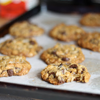 Salted Chocolate Cookies with Ginger and Coconut