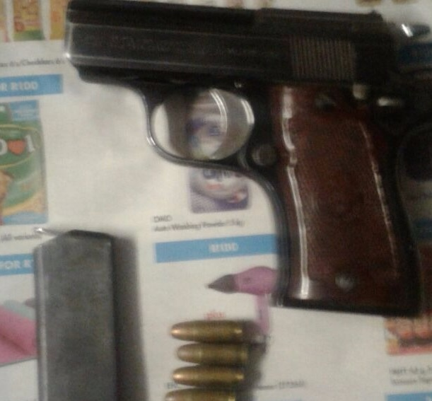 The firearm that was found hidden inside a shop in New Brighton