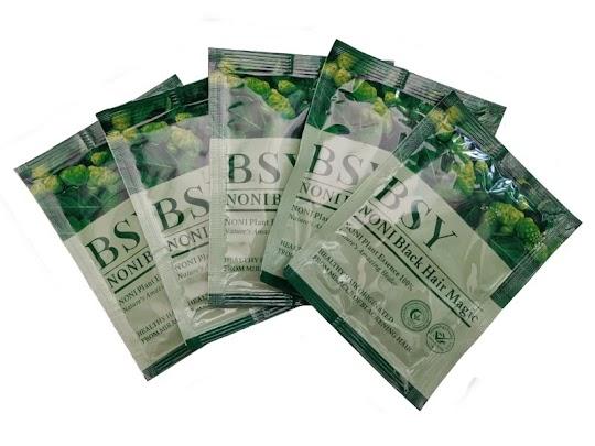 Shampoo BSY NONI Black Hair Magic obat herbal penghitam rambut bpom halal original asli menghitamkan