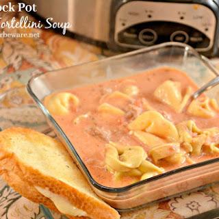 Crock Pot Sausage Tortellini Soup.