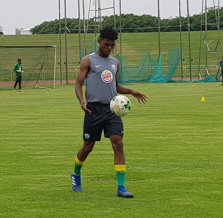 Orlando Pirates' AS Monaco-bound teenage striker Lyle Foster during the SA Under-20 national men's team training session at the Germiston Stadium on Thursday November 29 2018.