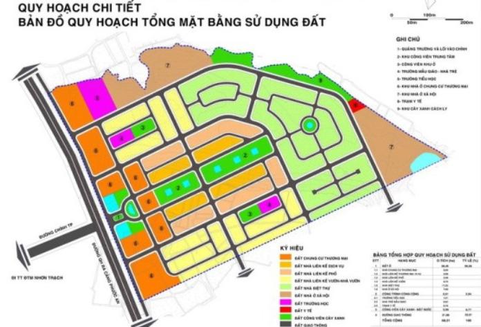 Bản quy hoạch chi tiết 1/500 tổng mặt bằng sử dụng đất