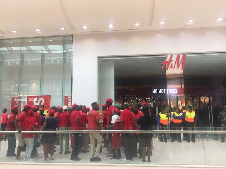 Just as many South Africans were recovering from the drama caused by the Economic Freedom Fighters over the weekend' the red berets yet again stormed one of the biggest malls in the country' Mall of Africa in Midrand north of Johannesburg.