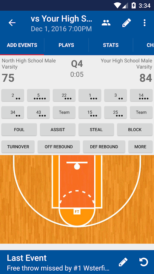 DS Basketball Statware- screenshot