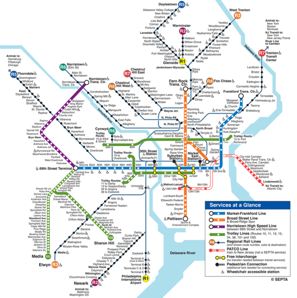 Philadelphia Subway Map