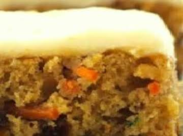 Carrot Zucchini Bars with Lemon Lime Frosting