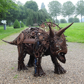 The iron rhino by Bob Has - Artistic Objects Other Objects ( metal, object, rhino,  )