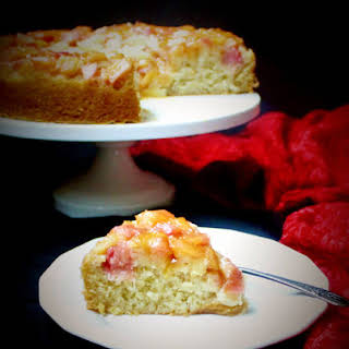 Vegan Rhubarb Ginger Upside-Down Cake.
